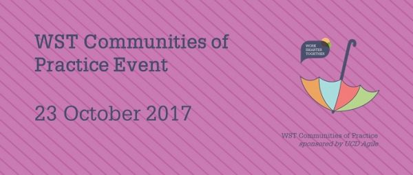 Save the date: 23 October 2017 for the next WST CoP event