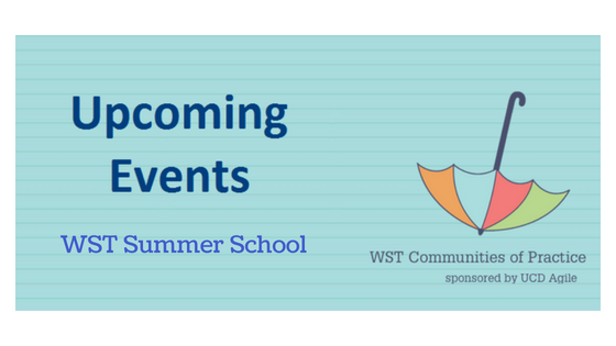 Work Smarter Together Summer School - 17, 18 & 19 July 2018