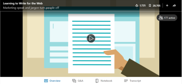 Writing for the Web with LinkedIn Learning